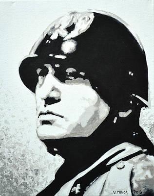 Benito Mussolini Poster by Victor Minca