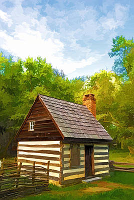 Poster featuring the photograph Benjamin Banneker Cabin by Dana Sohr