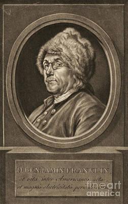 Benjamin Franklin 1780 Poster by Padre Art