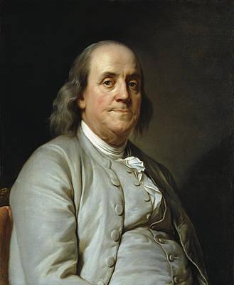 Benjamin Franklin By Joseph Duplessis  C. 1785 Poster by Daniel Hagerman
