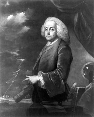 Benjamin Franklin, Experiments Poster by Science Source