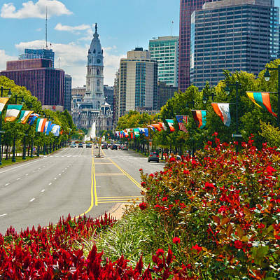Benjamin Franklin Parkway  Poster by Mitch Cat
