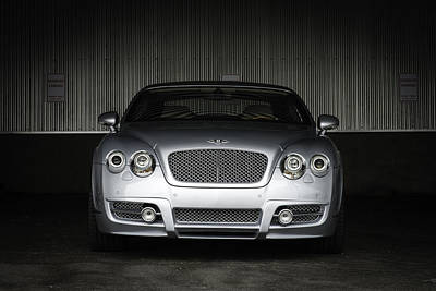 Bentley Continental Front View Poster