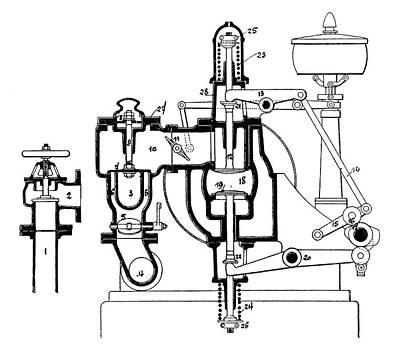 Benz Engine Distribution Poster