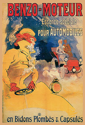 Benzo Moteur Poster by Vintage Automobile Ads and Posters