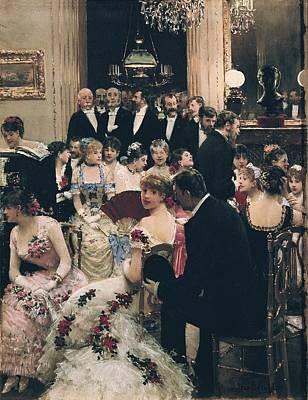 Beraud, Jean 1849-1935. The Soiree. Ca Poster by Everett