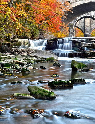 Berea Falls Ohio Poster by Frozen in Time Fine Art Photography