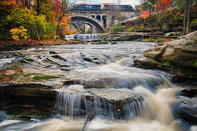 Berea Waterfalls In Autumn Poster