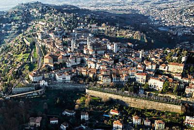 Bergamo Aerial View Poster by Pietro Annoni