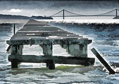Berkeley Marina Pier Study 1 Poster by Samuel Sheats