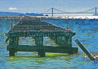 Berkeley Marina Pier Study 2 Poster by Samuel Sheats