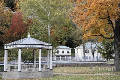 Berkeley Springs Bandstand In West Virginia Poster by William Kuta