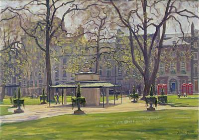 Berkeley Square, London Oil On Canvas Poster by Julian Barrow
