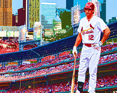 Berkman In Saint Louis Poster by John Freidenberg