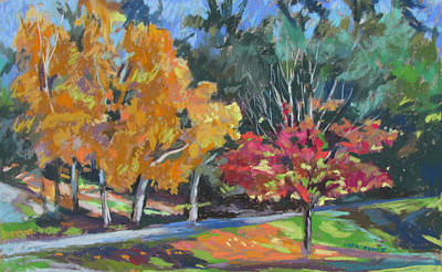 Poster featuring the painting Berkshire Fall by Linda Novick