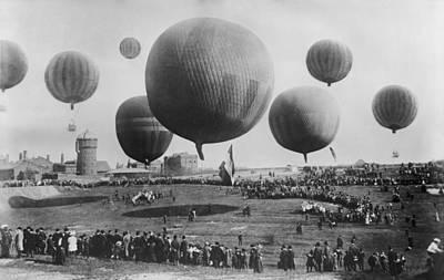 Berlin Balloon Race, 1908 Poster