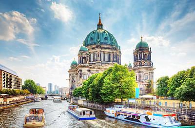 Berlin Cathedral Poster by Michal Bednarek