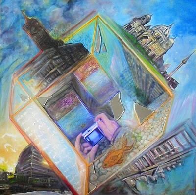 Berlin Cube Poster by Veronika Ban