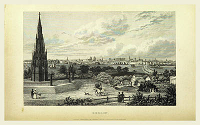 Berlin, Germany, 19th Century Engraving Poster by Litz Collection