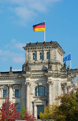 Berlin, Germany Reichstag Building Poster by Bill Bachmann