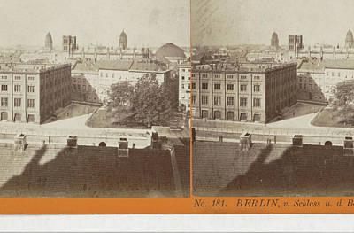 Berlin, V. Schloss N. D Construction Academie Poster