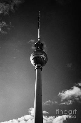 berliner fernsehturm Berlin TV tower symbol of east berlin Germany Poster by Joe Fox