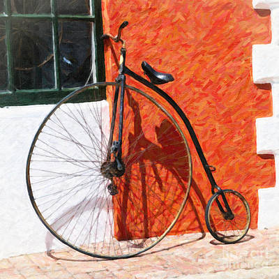 Poster featuring the photograph Bermuda Antique Bicycle by Verena Matthew