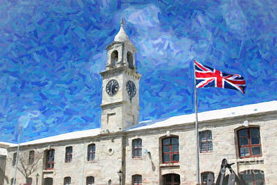 Poster featuring the photograph Bermuda Clocktower by Verena Matthew