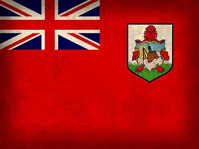 Bermuda Flag Vintage Distressed Finish Poster by Design Turnpike