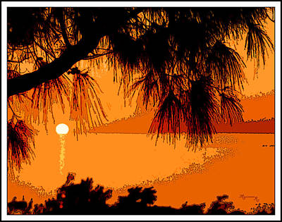 Poster featuring the photograph Bermuda Sunset by Mariarosa Rockefeller