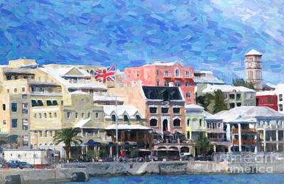Poster featuring the photograph Bermuda Waterfront by Verena Matthew