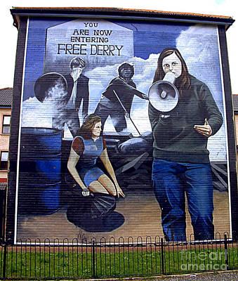 Bernadette Devlin Mural Poster