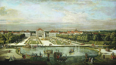 Bernardo Bellotto And Workshop, Nymphenburg Palace Poster by Litz Collection