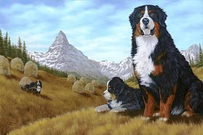 Bernese Mountain Dog Poster by Rick Bainbridge