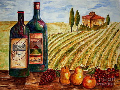Bernhardt And Retreat Hill Winery Poster by Tamyra Crossley