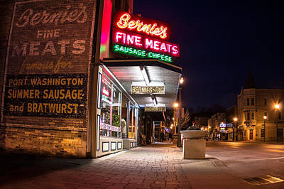 Bernies Fine Meats Signage Poster by James  Meyer