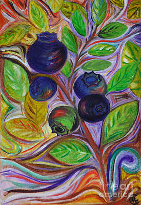 Poster featuring the painting Berry Bush by Cynthia Lagoudakis