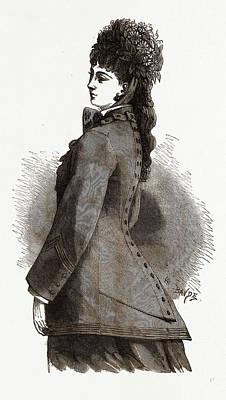 Bertha Confection, 19th Century Fashion, Dress Poster