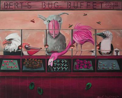 Bert's Bug Buffet Edit 2 Poster by Leah Saulnier The Painting Maniac