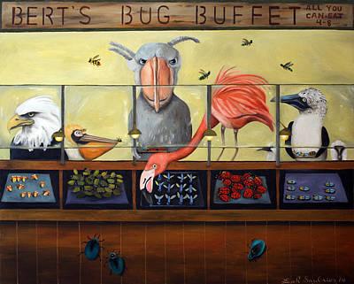 Bert's Bug Buffet Poster by Leah Saulnier The Painting Maniac