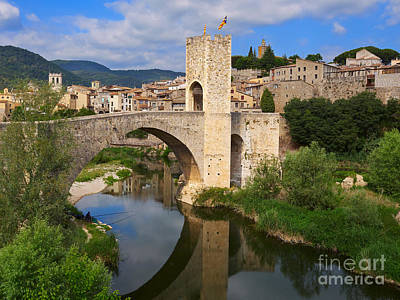 Besalu A Medieval Town In Catalonia Poster by Louise Heusinkveld
