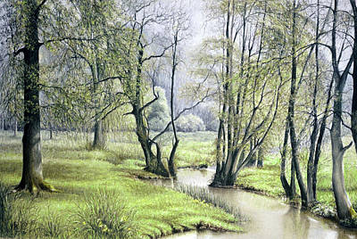 Poster featuring the painting Beside Still Waters by Rosemary Colyer