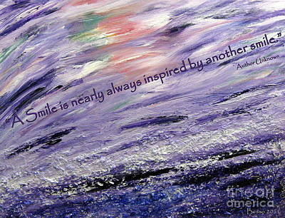 Besso Tsunami Smile Quote Poster by Marlene Rose Besso