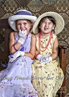 Best Friends Card Poster
