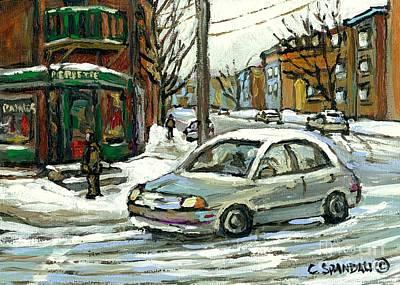 Best Original Montreal Art Landmarks Pierrette Patates Verdun Celebrate Montreal 375 Carole Spandau Poster