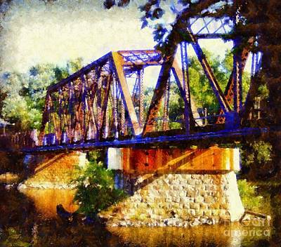 Train Trestle Bridge Poster by Janine Riley