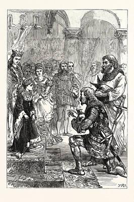 Betrothal Of The Princess Isabella To Richard Poster