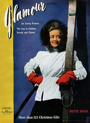 Bette Davis On The Cover Of Glamour Poster