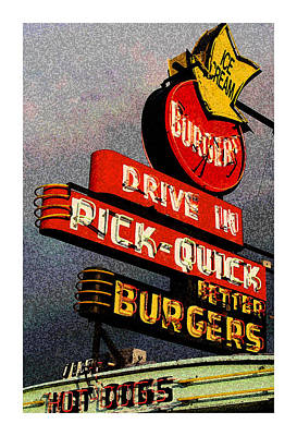 Better  Burgers Poster by Gail Lawnicki