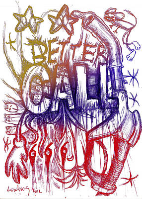 Better Call 666 Colour Version Poster by Eusebio Guerra